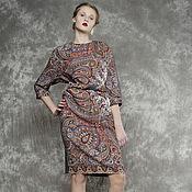 Одежда handmade. Livemaster - original item Dress pavlovoposadskaja a scarf, dress in the Russian style. Handmade.