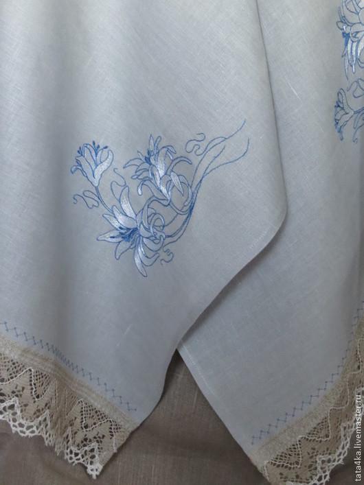 Текстиль, ковры ручной работы. Ярмарка Мастеров - ручная работа. Купить Рушник с кружевом из льна. Handmade. Рушник, полотенце с вышивкой