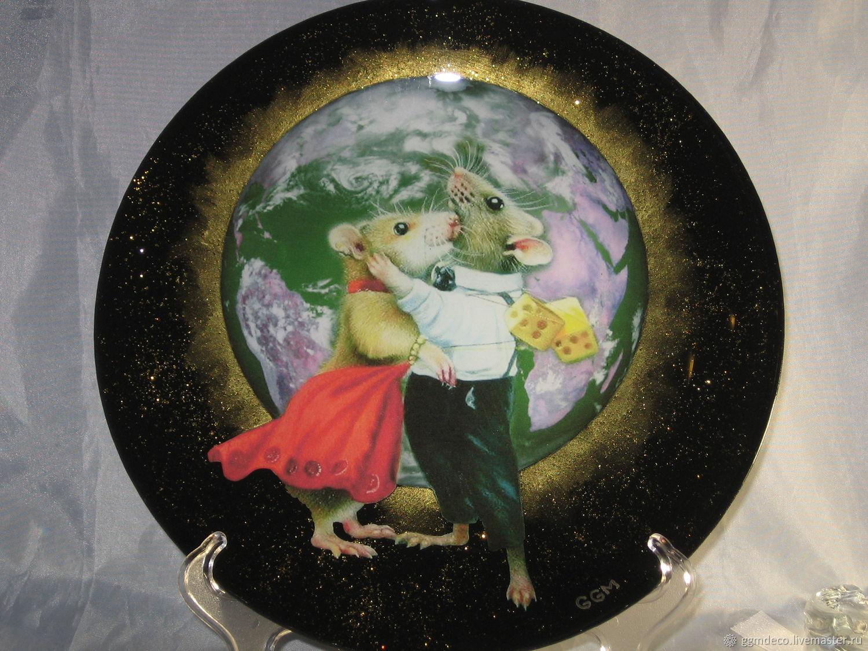 Парочка Декоративная тарелка, Год Крысы 2020, Санкт-Петербург,  Фото №1