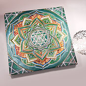 Картины и панно handmade. Livemaster - original item Anahata-Mandala for Opening the Heart. Handmade.