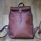 Сумки и аксессуары handmade. Livemaster - original item Brown leather backpack-twist. Handmade.