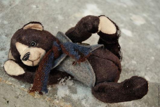 Мишки Тедди ручной работы. Ярмарка Мастеров - ручная работа. Купить Мишка Тедди Барни. Handmade. Коричневый, фетр