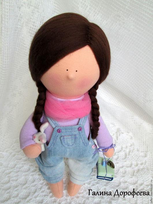 Человечки ручной работы. Ярмарка Мастеров - ручная работа. Купить Девочка с книжками. Handmade. Голубой, кукла снежка, кукла купить