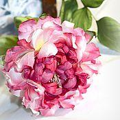 Цветы и флористика handmade. Livemaster - original item Rose silk and velvet. Fabric flower. Handmade.
