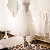 Одежда ручной работы. Ярмарка Мастеров - ручная работа Юбка из фатина Белая Т05. Handmade.