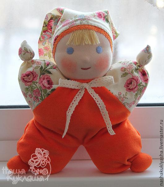 Вальдорфская игрушка ручной работы. Ярмарка Мастеров - ручная работа. Купить Вальдорфская кукла Малышка Мандаринка. Handmade. Рыжий, вальдорф