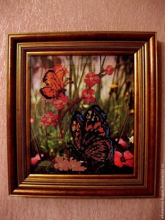 Картины цветов ручной работы. Ярмарка Мастеров - ручная работа. Купить Картины вышитые бисером. Handmade. Картина, Вышитая картина