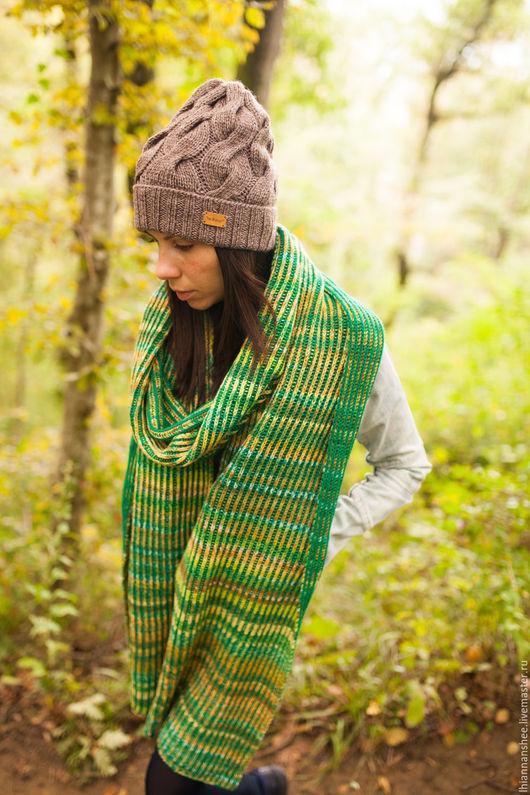 *neЖnost`* ручная работа. Handmade. вязание спицами. шарф и шапка спицами. шапка с косами. шарф бриошь.большой шарф.