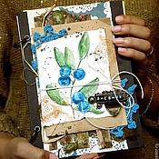 """Канцелярские товары ручной работы. Ярмарка Мастеров - ручная работа Эко-книга """"Черника"""". Handmade."""