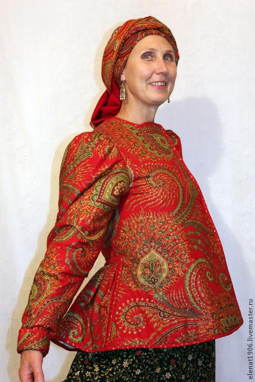 Верхняя одежда ручной работы. Ярмарка Мастеров - ручная работа. Купить Шугай. Handmade. Ярко-красный, шугай, куртка из хлопка