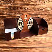 Настольные органайзеры ручной работы. Ярмарка Мастеров - ручная работа Настольный органайзер с вечным календарем. Handmade.