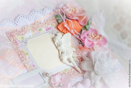 """Фотоальбомы ручной работы. Ярмарка Мастеров - ручная работа. Купить Фотоальбом """"Танец Фей"""". Handmade. Бледно-розовый, фея"""
