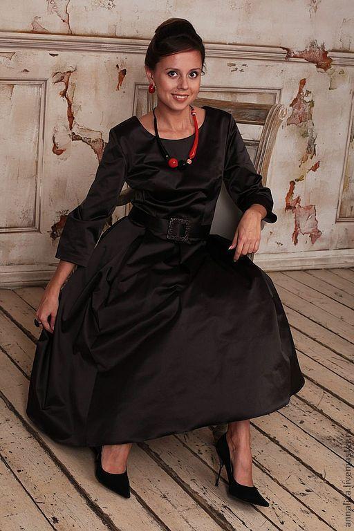 """Платья ручной работы. Ярмарка Мастеров - ручная работа. Купить Ретро платье в стиле 60-х """"Горький шоколад"""". Handmade."""