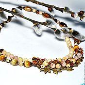 Украшения handmade. Livemaster - original item Necklace oligoclase