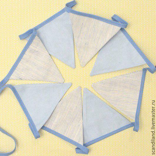 флажки гирлянда из флажков из ткани хлопок декор детской комнаты