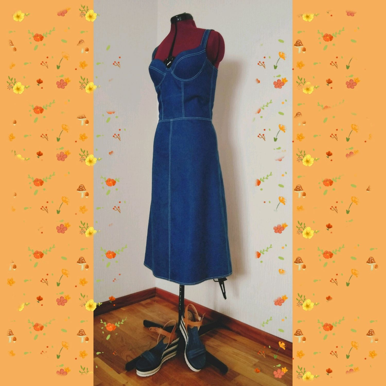 8cb77fe8b02 Платья ручной работы. Ярмарка Мастеров - ручная работа. Купить Джинсовый  сарафан. Handmade.