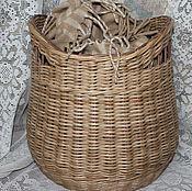 Для дома и интерьера ручной работы. Ярмарка Мастеров - ручная работа Корзина плетеная, натурального цвета.. Handmade.