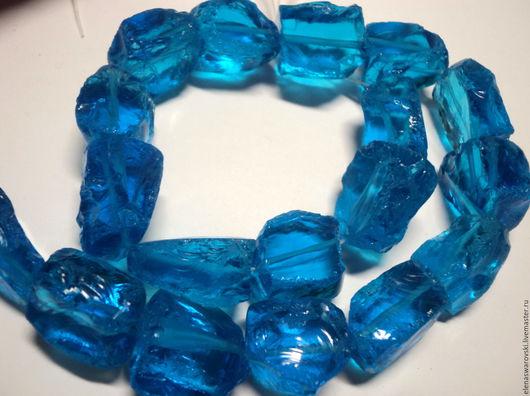 Для украшений ручной работы. Ярмарка Мастеров - ручная работа. Купить Аква кварц сколы (синие). Handmade. Синий, аквакварц