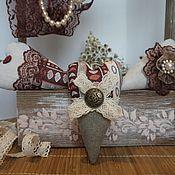 Подарки к праздникам ручной работы. Ярмарка Мастеров - ручная работа Сердце текстильное Кантри. Handmade.