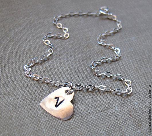 """Колье, бусы ручной работы. Ярмарка Мастеров - ручная работа. Купить Ожерелье из серебра """"Любовь в сердце"""". Нежное романтичное украшение. Handmade."""