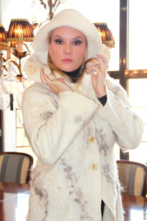 """Верхняя одежда ручной работы. Ярмарка Мастеров - ручная работа. Купить Комплект Войлок """" Снежный"""". Handmade. Белый"""