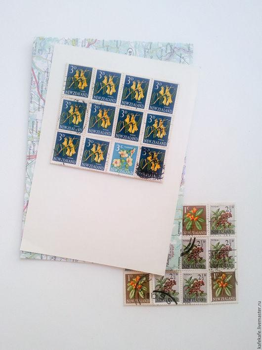 Открытки на все случаи жизни ручной работы. Ярмарка Мастеров - ручная работа. Купить Коллажики из марок. Заготовки для открыток, элементы декора, скрап. Handmade.