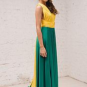 Одежда ручной работы. Ярмарка Мастеров - ручная работа Двухцветное платье трансформер. Handmade.