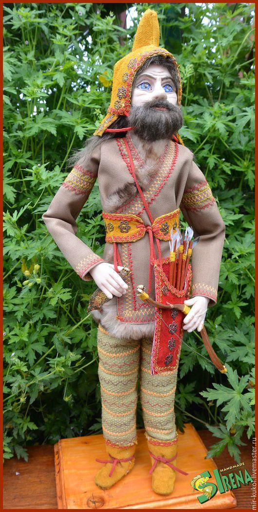Коллекционные куклы ручной работы. Ярмарка Мастеров - ручная работа. Купить Скифский воин. Handmade. Комбинированный, интерьерная кукла