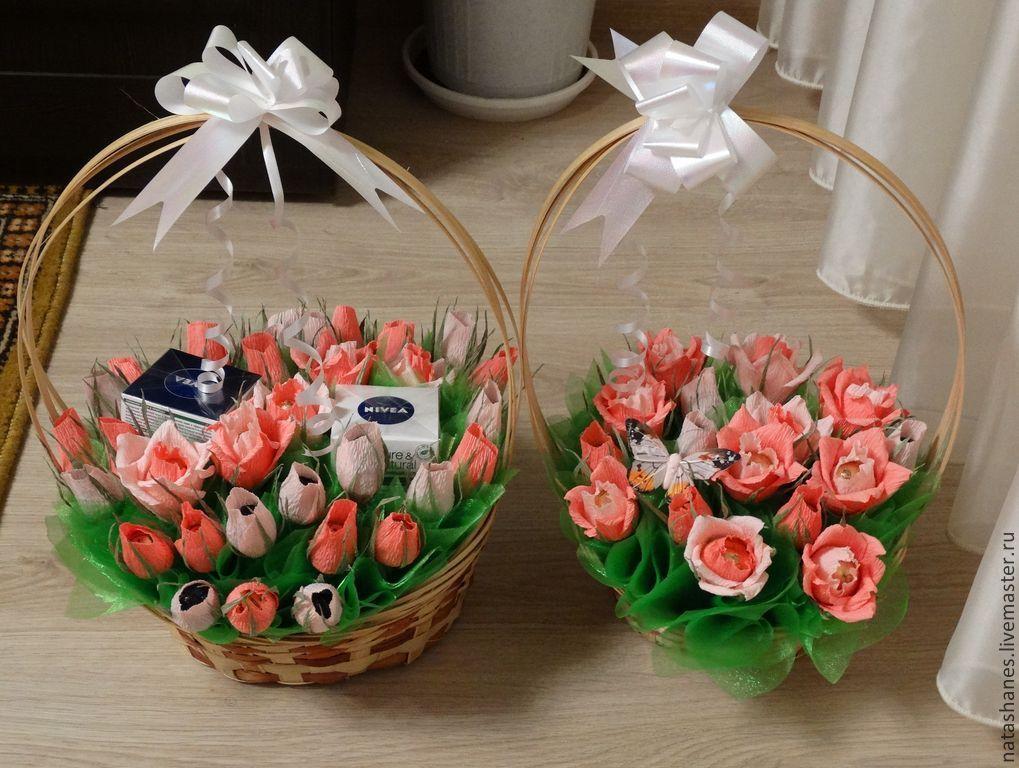 Подарки из конфет на день рождения своими руками