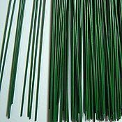 Материалы для творчества ручной работы. Ярмарка Мастеров - ручная работа Проволока флористическая друт стальная зеленая летоны 40см длина. Handmade.