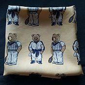 Винтаж ручной работы. Ярмарка Мастеров - ручная работа Шелковый платок с мишками Тедди. Handmade.