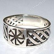 Русский стиль handmade. Livemaster - original item Ring KOLOVRAT. Handmade.