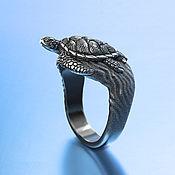 Украшения handmade. Livemaster - original item Rings:Sea turtle. Handmade.