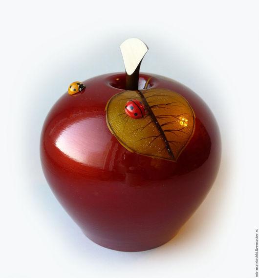 """Персональные подарки ручной работы. Ярмарка Мастеров - ручная работа. Купить vip подарок Шкатулка """"Яблоко"""" 2. Handmade."""