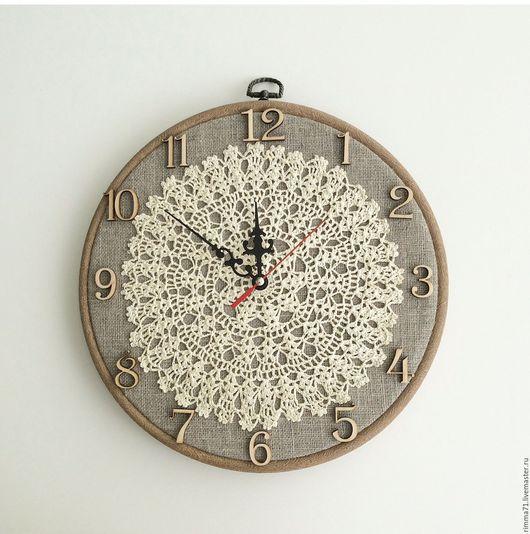 "Часы для дома ручной работы. Ярмарка Мастеров - ручная работа. Купить Настенные часы ""Винтажные"". Handmade. Часы, Пяльца"