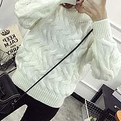 Одежда ручной работы. Ярмарка Мастеров - ручная работа Пуловер белый. Handmade.