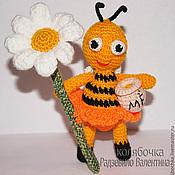 Куклы и игрушки ручной работы. Ярмарка Мастеров - ручная работа Пчёлка охраняющая мёд.. Handmade.