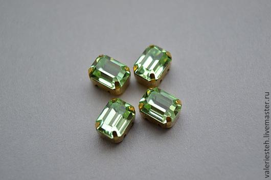 Для украшений ручной работы. Ярмарка Мастеров - ручная работа. Купить Винтажные кристаллы Swarovski 8 х 6 мм. цвет Chrysolite. Handmade.