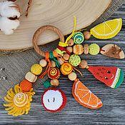 Грызунки ручной работы. Ярмарка Мастеров - ручная работа Грызунок - прорезыватель - Солнечные фрукты. Handmade.