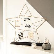 """Фоторамки ручной работы. Ярмарка Мастеров - ручная работа Мудборд """"Звезда"""" на деревянной подставке. Handmade."""