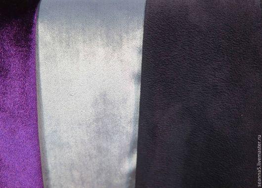"""Шитье ручной работы. Ярмарка Мастеров - ручная работа. Купить Замша-стрейч плотная брючно-костюмно-пальтовая """"Чернильная"""" ткань. Handmade."""
