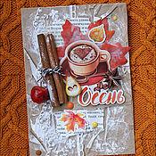 """Открытки ручной работы. Ярмарка Мастеров - ручная работа Открытка """"Осень"""". Handmade."""