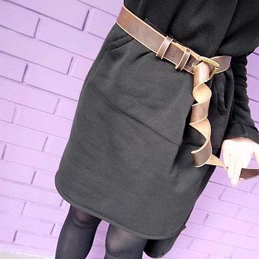 Аксессуары ручной работы. Ярмарка Мастеров - ручная работа Ремень кожаный коричневый. Handmade.