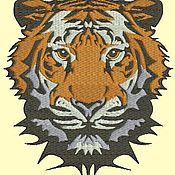 Дизайн и реклама ручной работы. Ярмарка Мастеров - ручная работа тигр  дизайн для машинной вышивки. Handmade.