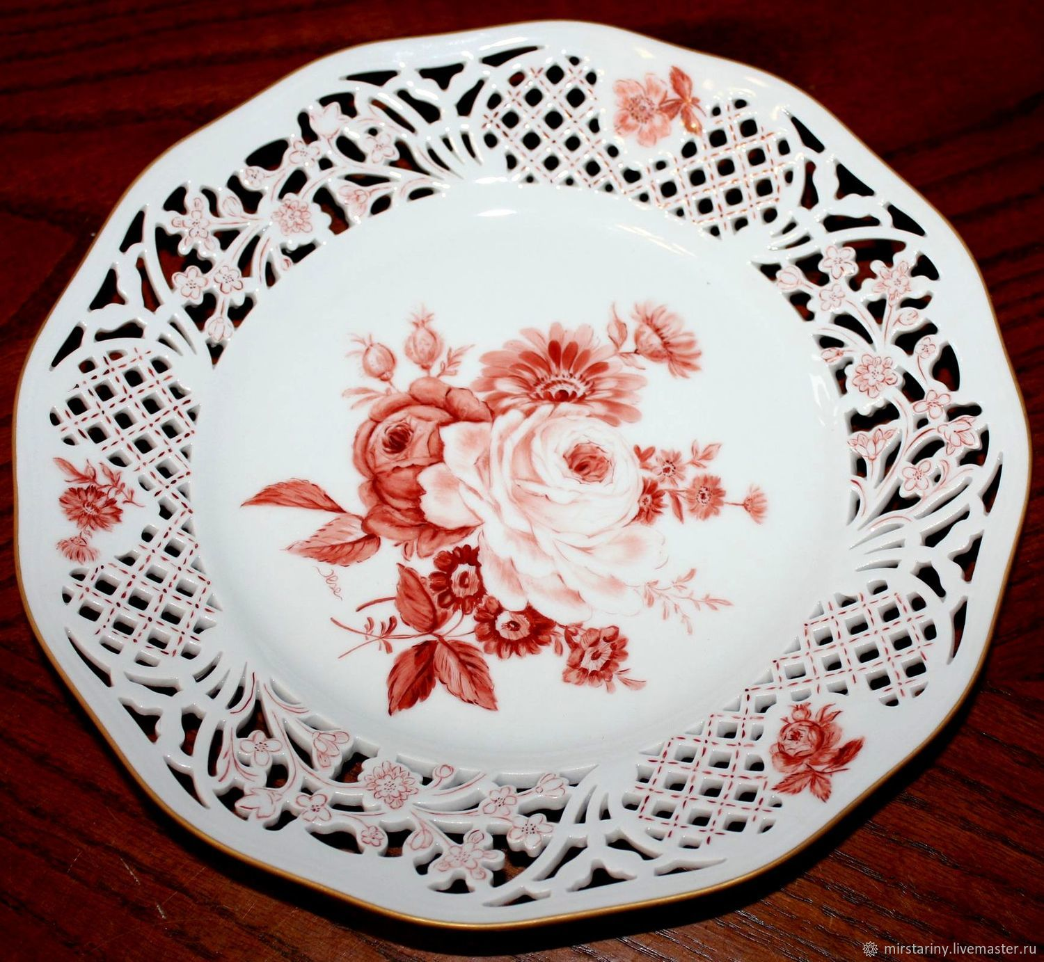 Beautiful porcelain dish 'ROSE', Schumann, Germany, Vintage plates, Moscow,  Фото №1