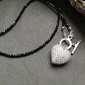 Украшения handmade. Livemaster - original item Spinel heart necklace. Handmade.