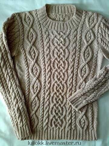 Кофты и свитера ручной работы. Ярмарка Мастеров - ручная работа. Купить Аранский пуловер, авторская работа. Handmade. Араны, свитер