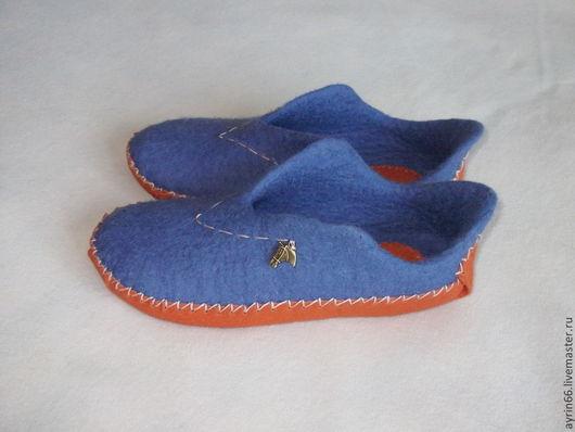 """Обувь ручной работы. Ярмарка Мастеров - ручная работа. Купить Тапочки """"Сафари"""". Handmade. Обувь ручной работы, тапочки валяные"""