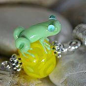 Украшения handmade. Livemaster - original item Frog