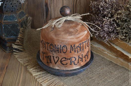 Хлебница-клош в стиле старого итальянского кантри. Необычный подарок для кулинара и прекрасное дополнение для кухни в стиле кантри.